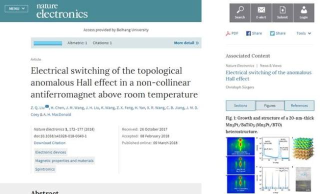 First Device Capable of Electrical Switching of Topological AHE in ...